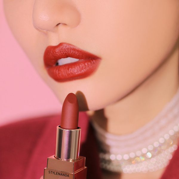 Son 3CE Matte Lip Color Màu 228 Red Seventies - Đỏ Đất 2