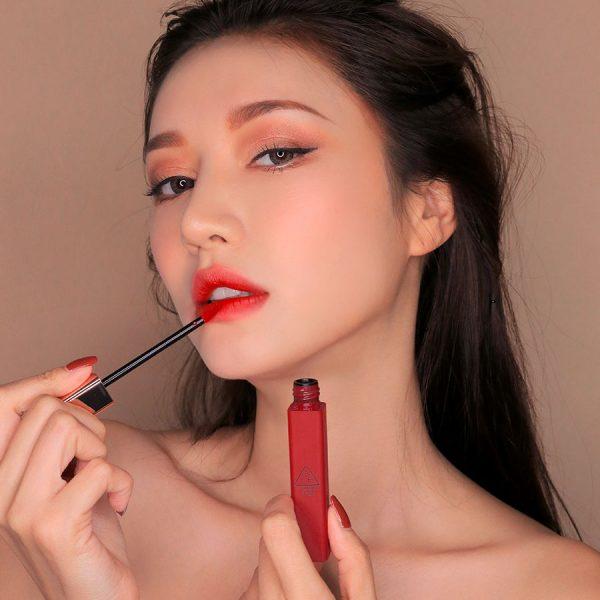 Son Kem Lì 3CE Cloud Lip Tint Màu Macaron Red - Đỏ Tươi 2