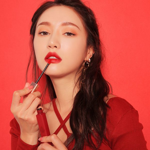 Son 3CE Cloud Lip Tint Macaron Red – Đỏ Gạch 3