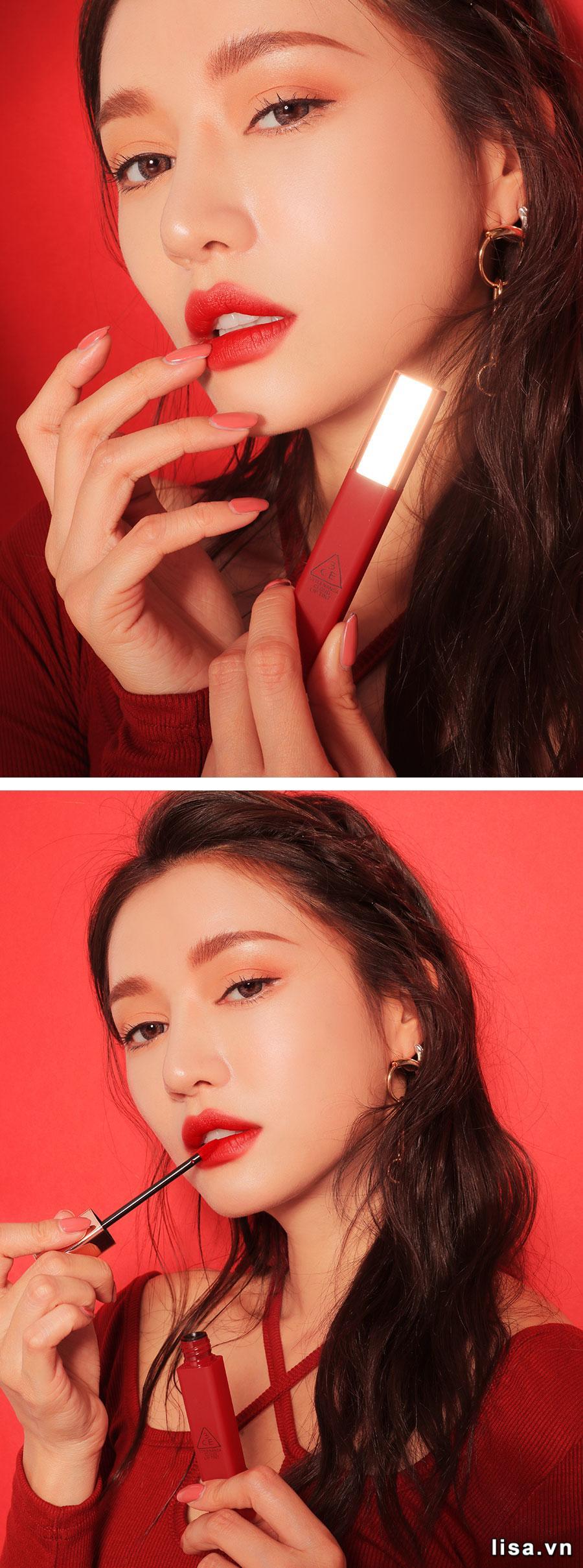 3CE Cloud Lip Tint Macaron Red ngoại hình đơn giản nhưng tinh tế