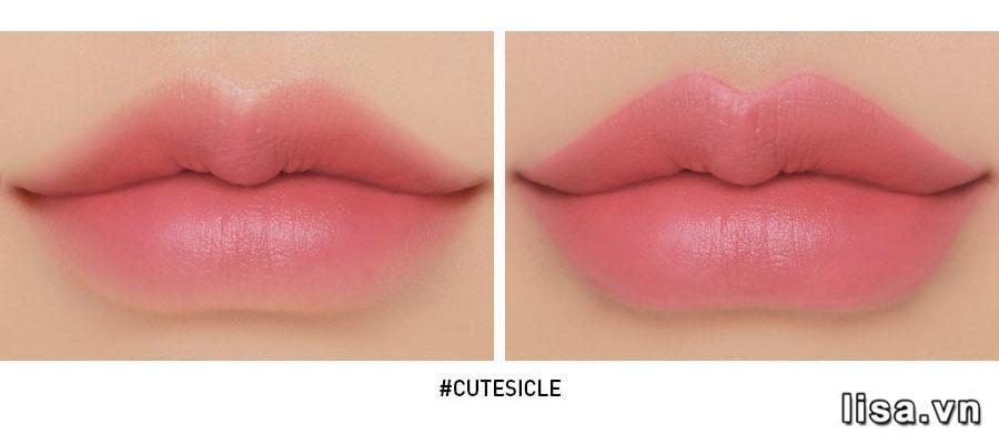 Son 3CE Cloud Lip Tint Cutesicle - Hồng Nude 15