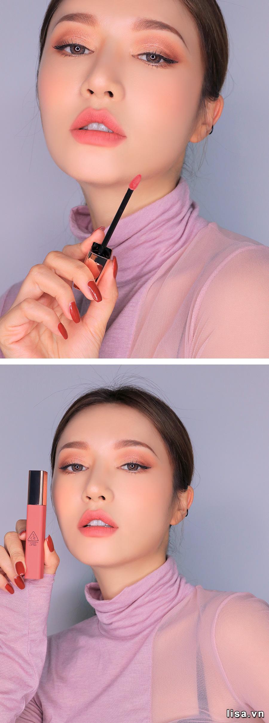Son 3CE Cloud Lip Tint Cutesicle - Hồng Nude 10