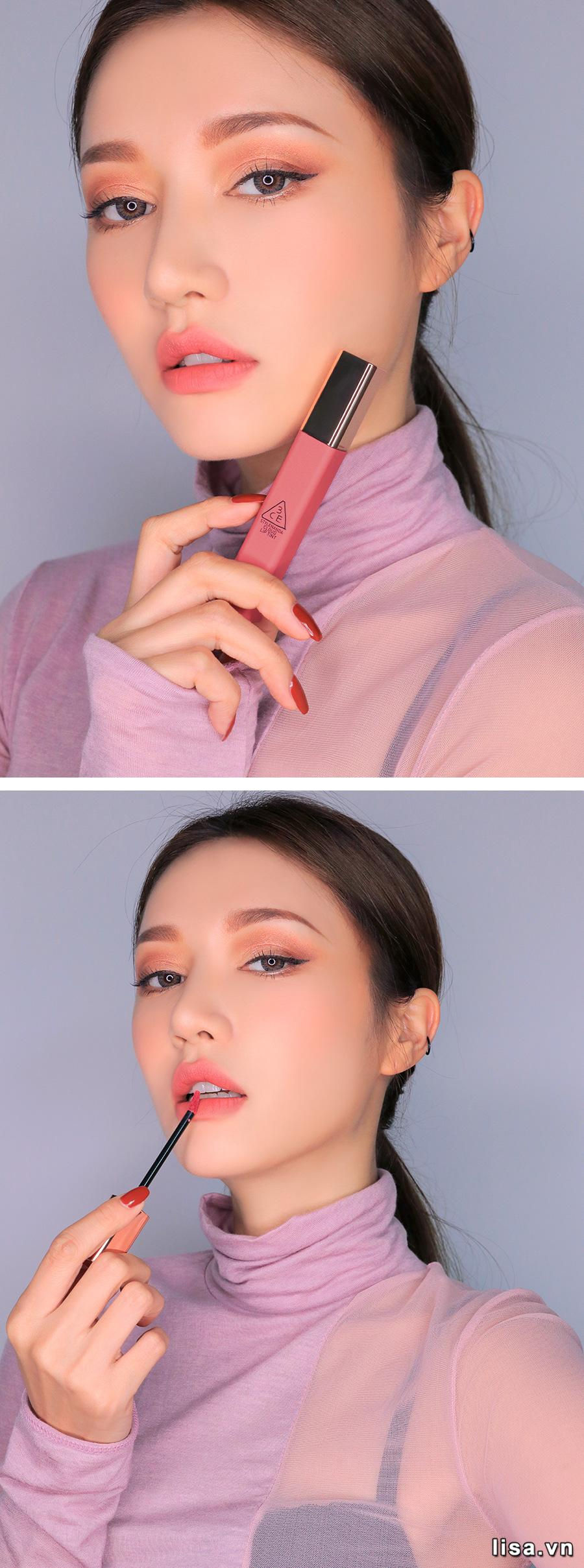 Son 3CE Cloud Lip Tint Cutesicle - Hồng Nude 12