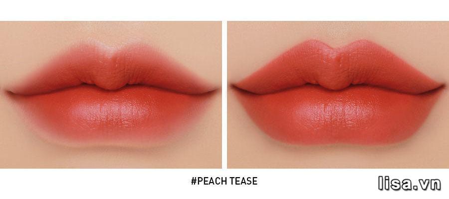Son 3CE Cloud Lip Tint Peach Tease - Cam San Hô 10