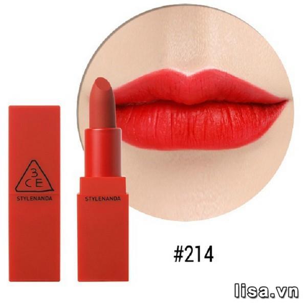 Son 3CE Red Recipe Lip Color 214 - Đỏ Tươi 7