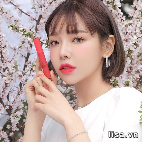 Son Kem Lì 3CE Smoothing Lip Tint Màu Dollyfied - Hồng San Hô 2