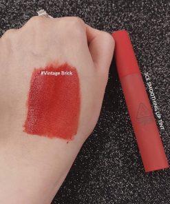 Son 3CE Smoothing Lip Tint Vintage Brick - Đỏ Nâu 5
