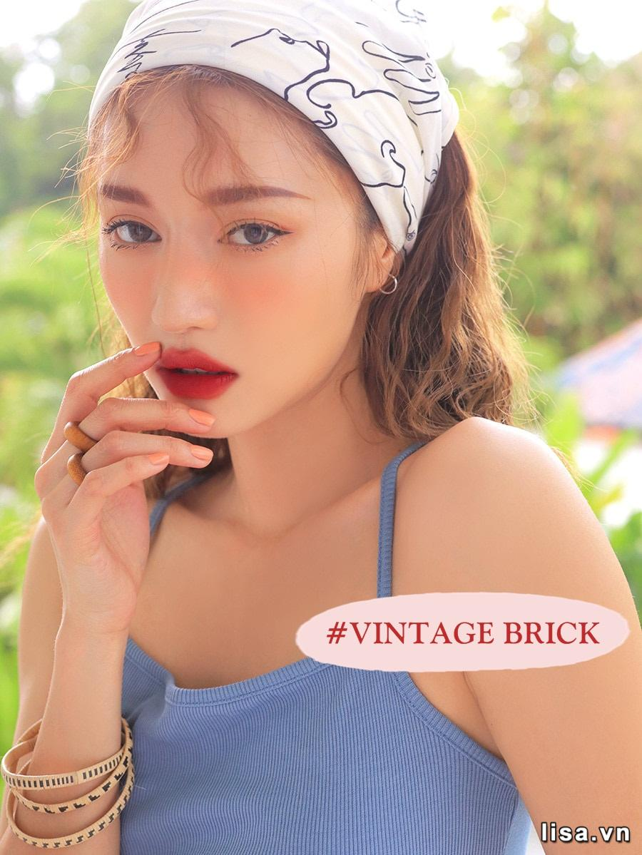 Son 3CE Smoothing Lip Tint Vintage Brick - Đỏ Nâu 11