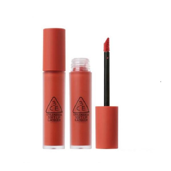 Son Kem 3CE Soft Lip Lacquer Màu Define This - Cam Sữa 1