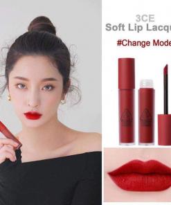 Son 3CE Soft Lip Lacquer Change Mode – Màu Đỏ Thuần 4