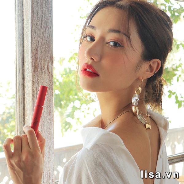Son Kem Lì 3CE Velvet Lip Tint Màu Absorbed - Đỏ Hồng 4