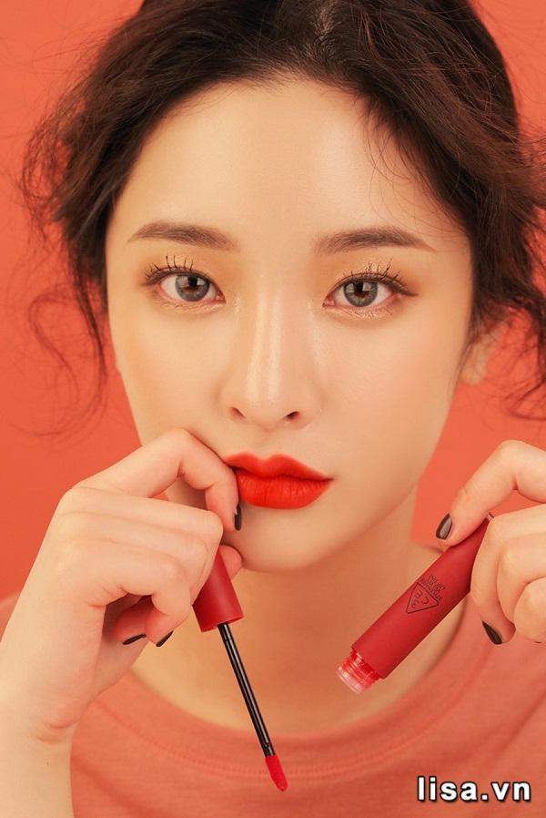 3CE Velvet Lip Tint Childlike có Độ bền màu lên tới 4 tiếng