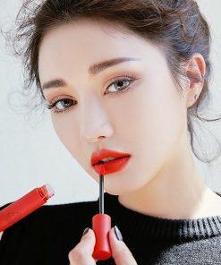 Son 3CE Velvet Lip Tint Childlike – Màu Đỏ Cam 6
