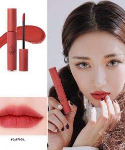 Son Kem Lì 3CE Velvet Lip Tint Màu Daffodil - Đỏ Đất 5