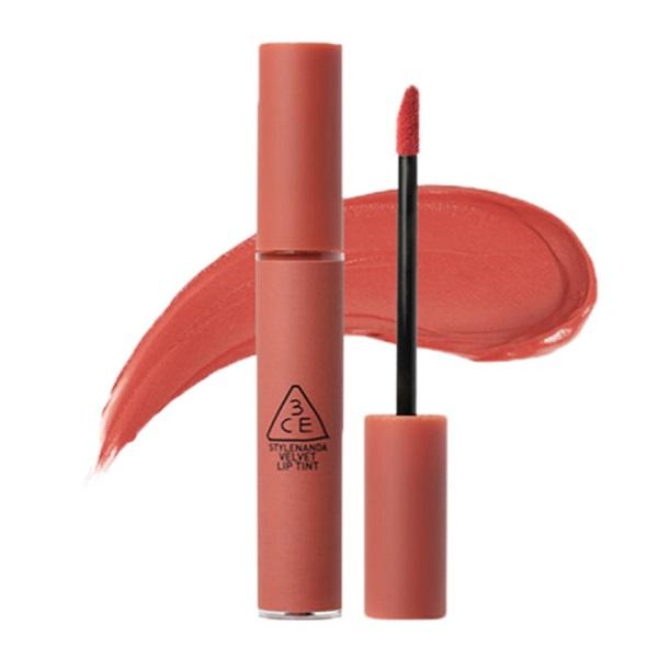 Son 3CE Velvet Lip Tint Going Right - Hồng Cam Đất 1