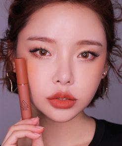 Son 3CE Velvet Lip Tint Going Right - Hồng Cam Đất 5