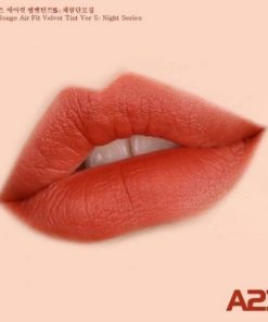 Son Black Rouge Air Fit Velvet Tint Ver 5 Màu A23 Vintage Sunset - Đỏ Cam Đất 5