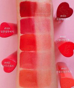 Son Black Rouge Color Lock Heart Tint Màu H03 Neon Pomelo - Cam Đỏ 5