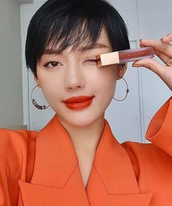 Son Black Rouge Air Fit Velvet Tint Ver 5 Màu A23 Vintage Sunset - Đỏ Cam Đất 6