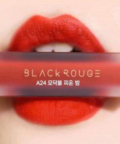 Son Black Rouge Air Fit Velvet Tint Ver 5 Màu A24 Campfire Night - Đỏ Cam 7