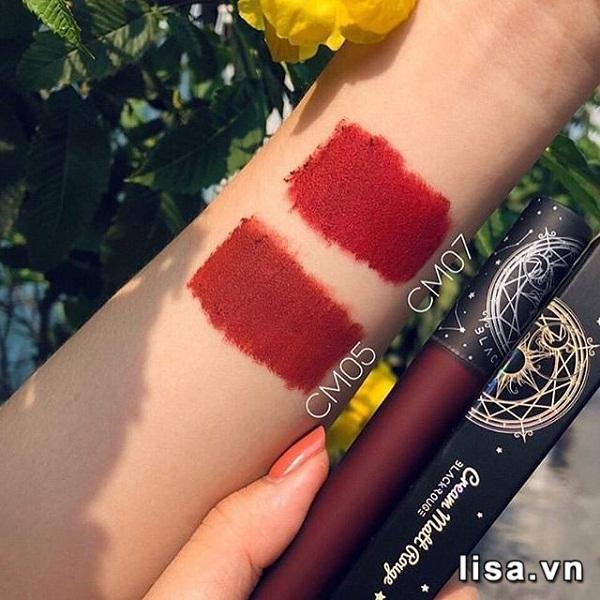 Màu son Black Rouge CM07 và màu son CM05