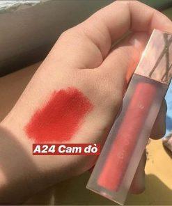 Son Black Rouge Air Fit Velvet Tint Ver 5 Màu A24 Campfire Night - Đỏ Cam 8