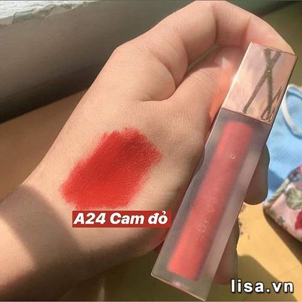 Son Black Rouge Ver5 A24 có chất son tint lì hoàn hảo