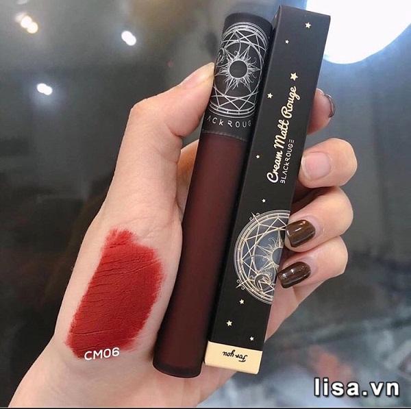 Chất son kem Black Rouge CM06 mềm xốp, lì mịn