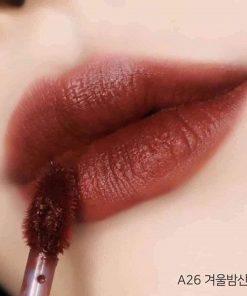 Son Black Rouge Air Fit Velvet Tint Ver 5 Màu A26 Winter Moon - Đỏ Đất 5