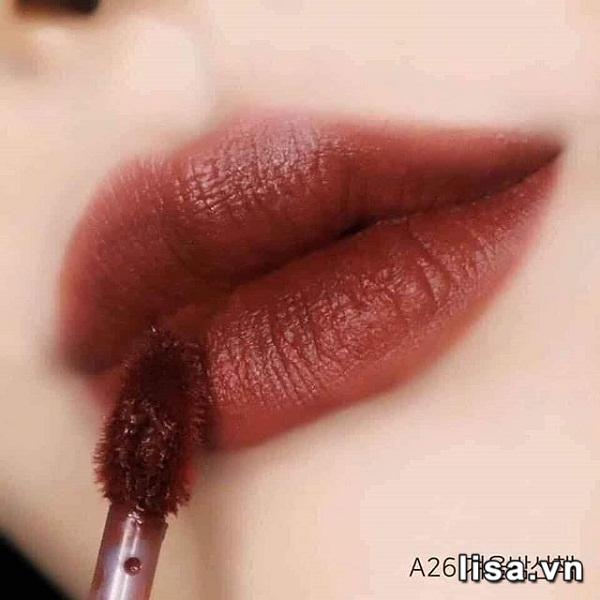 Son Black Rouge Air Fit Velvet Tint Ver 5 Màu A26 Winter Moon - Đỏ Đất 2