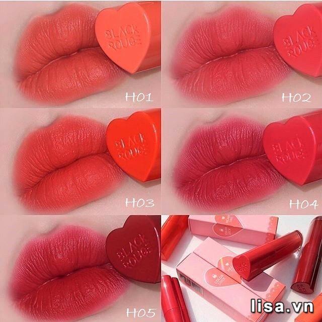 Son Black Rouge Color Lock Heart Tint H02 - Chất son tint mềm mượt, căng mịn