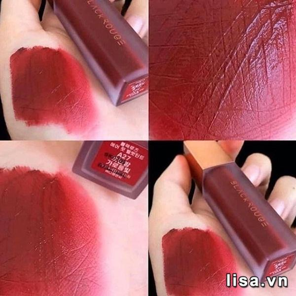 Son Black Rouge Ver5 A27 - Màu Đỏ Lạnh 7