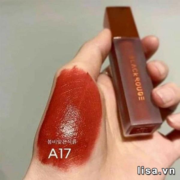Son Black Rouge Air Fit Velvet Tint Ver 3 Màu A17 Bolivian Pomegranate - Đỏ Lạnh 3