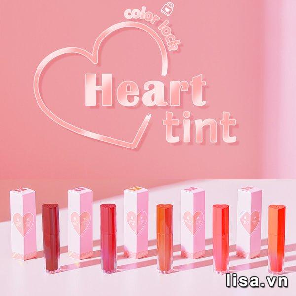 Son Black Rouge Color Lock Heart Tint H02 - Thiết kế hiệu ứng Hologram cùng nắp trái tim độc đáo