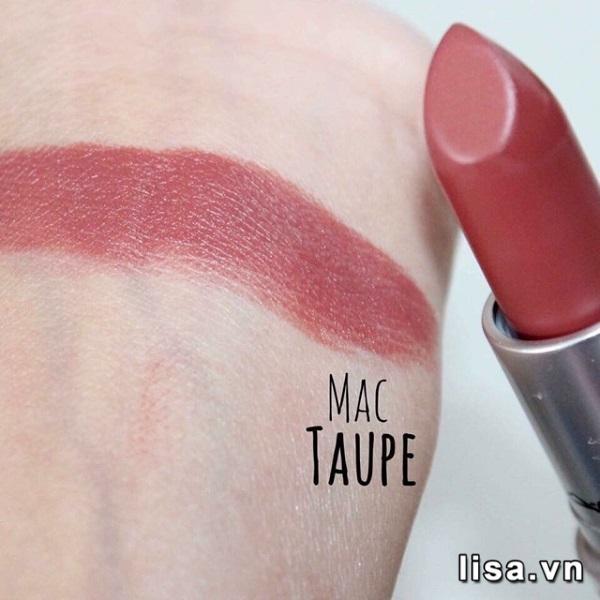 Son MAC Taupe là màu gì? Son có màu nâu đất quyến rũ, hút mắt