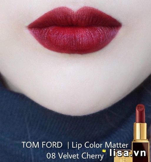 Son Tom Ford 08 màu đỏ rượu ma mị