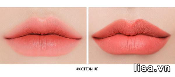 Son 3CE Slim Cotton Up - Màu Cam Đào 13