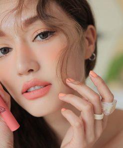 Son 3CE Slim Velvet Lip Color Màu Peach Play - Hồng Cam 10