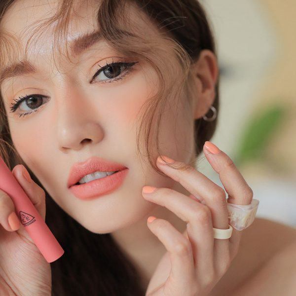 Son 3CE Slim Velvet Lip Color Màu Peach Play - Hồng Cam 3