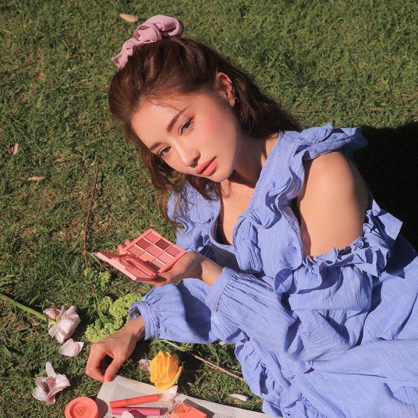 Son 3CE Slim Velvet Lip Color Màu Peach Play - Hồng Cam 8