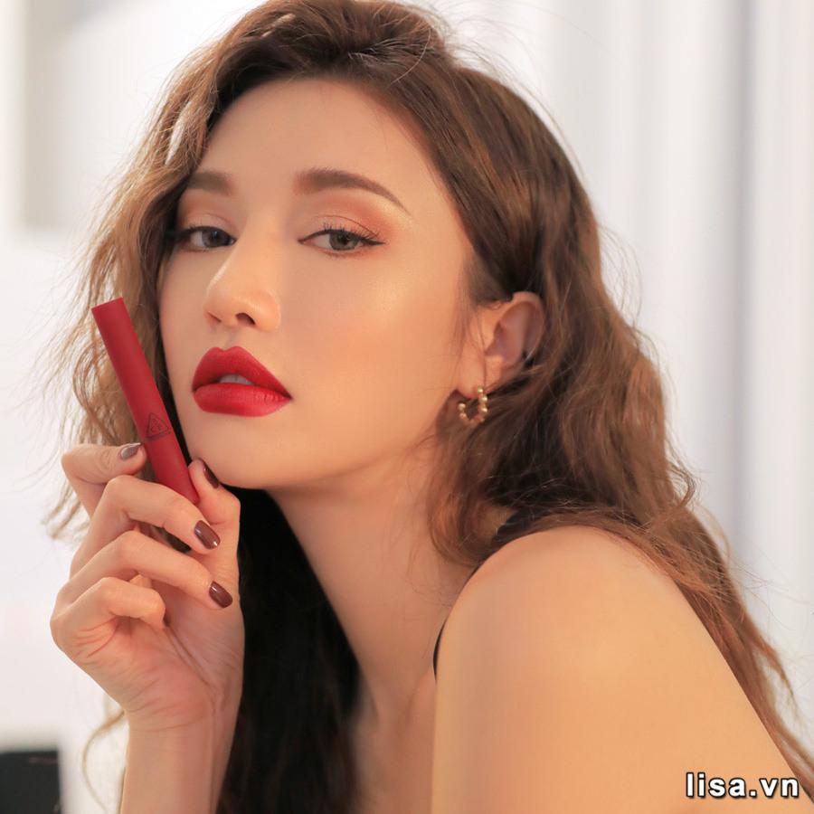 Son 3CE Slim Velvet Lip Color True Red - Đỏ Thuần 11