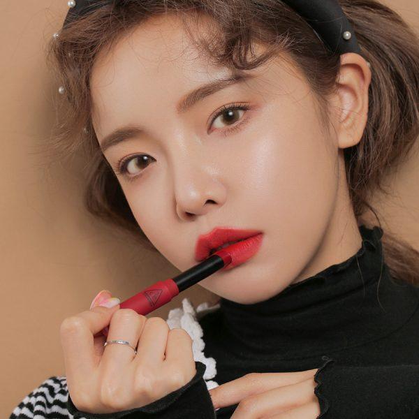 Son 3CE Slim Velvet Lip Color Màu True Red - Đỏ Thuần 5
