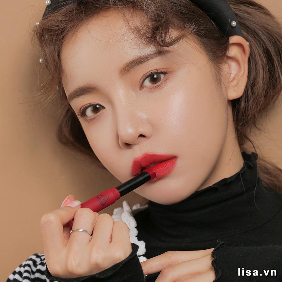 Son 3CE Slim Velvet Lip Color True Red - Đỏ Thuần 14
