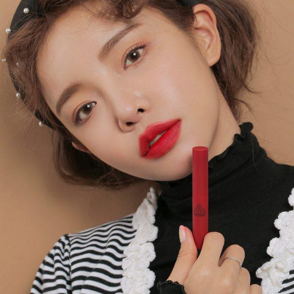 Son 3CE Slim Velvet Lip Color Màu True Red - Đỏ Thuần 4