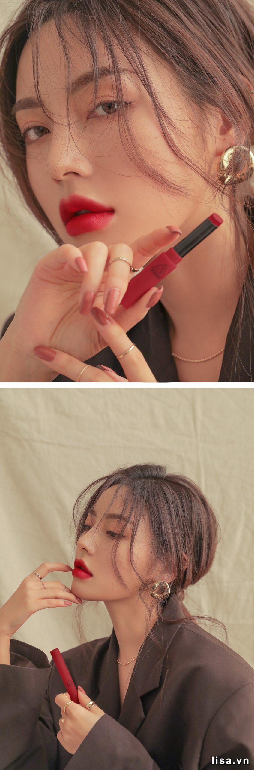 Son 3CE Slim Velvet Lip Color True Red - Đỏ Thuần 17