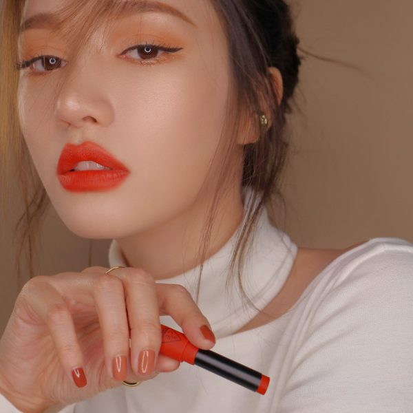Son 3CE Slim Velvet Lip Color Vermilion - Đỏ Cam 2