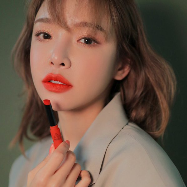 Son 3CE Slim Velvet Lip Color Vermilion - Đỏ Cam 5