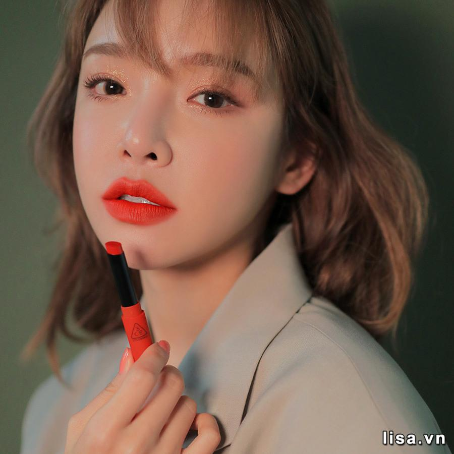 Son 3CE Slim Velvet Lip Color Vermilion - Đỏ Cam 17