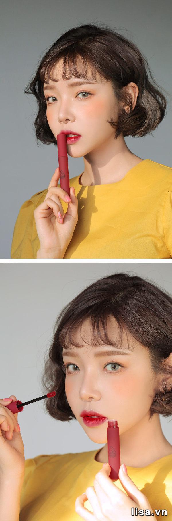 Son 3CE Smoothing Lip Tint Shameless có độ bền màu cực đáng nể