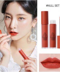 Son Kem 3CE Soft Lip Lacquer Màu Null Set - Đỏ Gạch 5